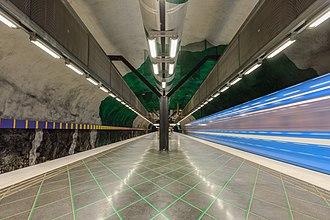 Huvudsta metro station - Image: Huvudsta May 2014 01