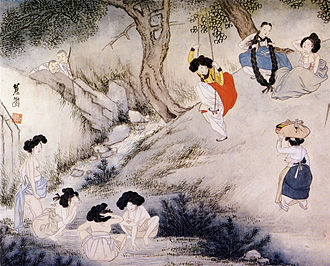 Dano (Korean festival) - Painting depicting Dano by Shin Yun-bok