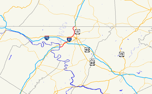 Interstate 81 in Maryland - Image: I 81 in MD map