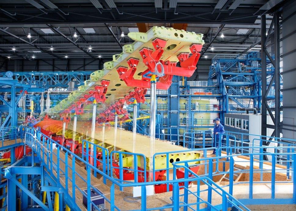 IABG Test Setup A380 Dresden bent wing