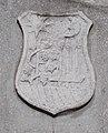 II. Világháborús emlékmű részlet, városi címer, Munkácsy Mihály utca, 2017 Törökbálint.jpg