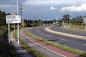 Regional road (Ireland) - The R449 west of Leixlip