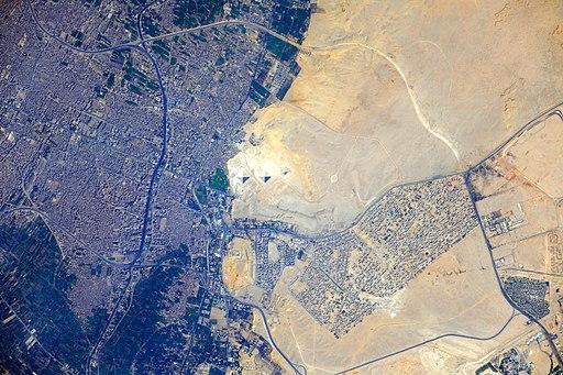 ISS-32 Pyramids at Giza, Egypt