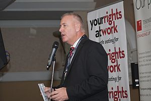 Ian Lavery - Lavery speaking at a TULO reception in 2014