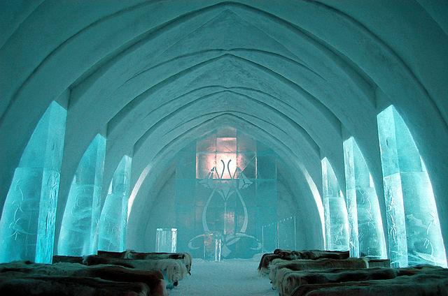 najstarší hotel z ľadu, Švédsko