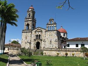 Guadalupe, Santander - Iglesia principal -main church- Guadalupe, Santander