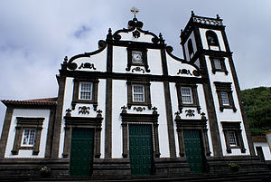 Maia (Ribeira Grande) - The front facade of the Church of the Divino Espírito Santo