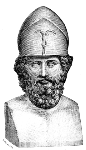 Ancient Greek herm of Themistocles