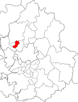 Map of Gyeonggi highlighting Ilsandong-gu.