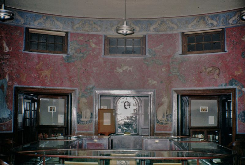 Louise Brann frescoes in the Mount Vernon Public Library, Mount Vernon, New York, completed in 1938.
