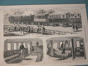Inauguration du train Impérial de la compagnie du Paris-Orléans aménagé par Viollet-le-Duc.jpg