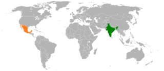 Diplomatic relations between the Republic of India and the United Mexican States