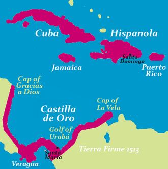 Diego Columbus - Tierra Firme (1513) - Castilla de Oro