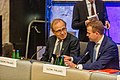 Informal meeting of economic and financial affairs ministers (ECOFIN). Round table Erkki Liikanen and Petteri Orpo (37069348472).jpg