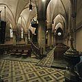 Interieur, overzicht zijbeuk met trap naar preekstoel - Sappemeer - 20399361 - RCE.jpg