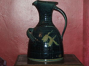 Jug - An Irish pottery water jug