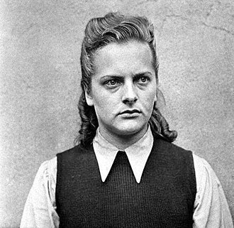 Female guards in Nazi concentration camps - Mugshot of Bergen-Belsen guard Irma Grese
