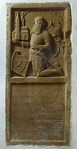 Irsee Abbey - Allegorical rendition of founder Heinrich von Ursin-Ronsberg