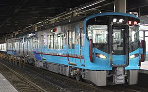 521 series - IR Ishikawa Railway 521 series EMU set IR05, March 2015