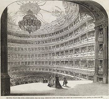 Interior view of the Royal Italian Opera House...