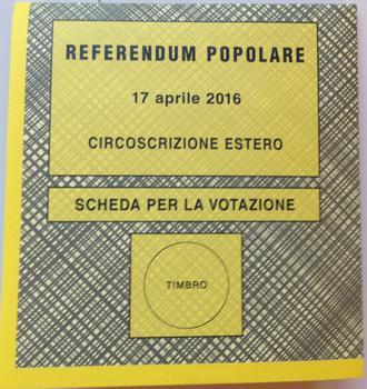 2016 Italian oil drilling referendum - 2016 Referendum ballot paper