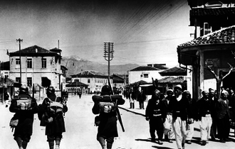 Italian invasion of Albania - Italian troops in Albania.