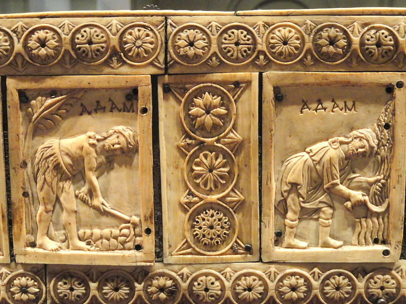 File:Ivory Box with Scenes of Adam and Eve, 1000-1100s AD, Byzantine, Constantinople, ivory, wood - Cleveland Museum of Art - DSC08382.JPG