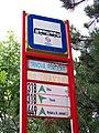 Jíloviště, zastávka Trnová, rozcestí - označení zastávky.jpg
