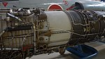 J79-IHI-11A turbojet engine combustor & turbine section left front view at Kakamigahara Aerospace Science Museum November 2, 2014.jpg