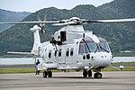 JMSDF MCH-101(8657) taxiing at Maizuru Air Station May 18, 2019 03.jpg