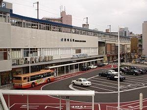 Nishi-Akashi Station - West side of Nishi-Akashi Station, October 2007