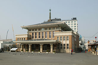 Kansai Main Line - Old Nara Station building in March 2007