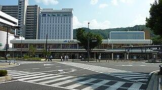 railway station in Otsu, Shiga prefecture, Japan