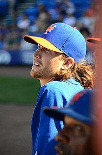 Jacob deGrom, New York Mets Spring training, March 7, 2014 (13023488203).jpg