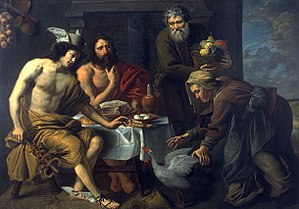 Baucis and Philemon - Jacob van Oost Mercury and Jupiter in the House of Philemon and Baucis