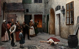Murder - Murder in the House, Jakub Schikaneder.