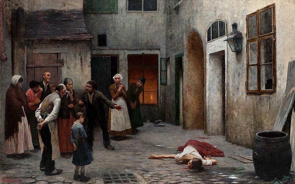 Jakub Schikaneder - Murder in the House