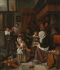 Jan Havicksz. Steen – Het Sint-Nicolaasfeest – Google Art Project.jpg