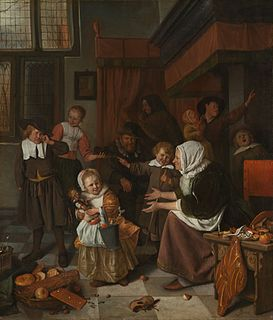 <i>The Feast of Saint Nicholas</i> painting by Jan Steen