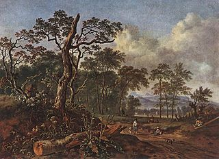 Wooded Landscape with a Dead Tree
