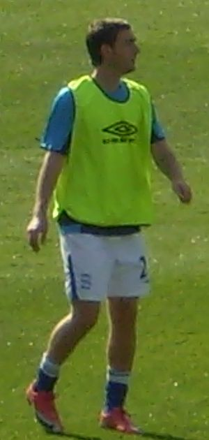 Jay O'Shea - Warming up for Birmingham City, August 2009