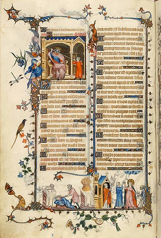 Jean Pucelle - Page from the Belleville Breviary by Jean Pucelle