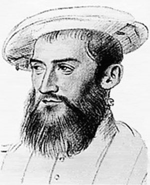 Spanish assault on French Florida - Portrait of the French mariner, Jean Ribault (1520 – 1565)