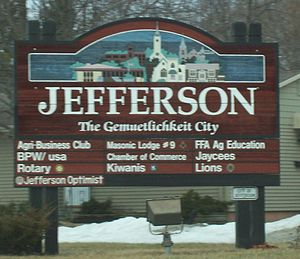 Jefferson, Wisconsin - Welcome sign