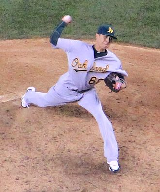 Jesse Chavez - Chavez with the Oakland Athletics in 2013