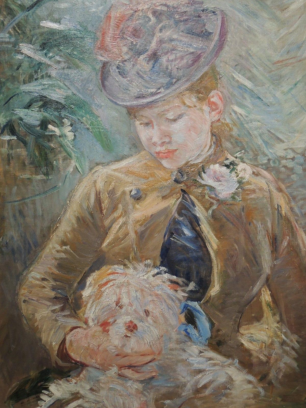 File:Jeune Fille au chien (Morisot).jpg - Wikimedia Commons