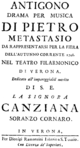 Johann Adolf Hasse - Antigono - titlepage of the libretto - Verona 1748.png