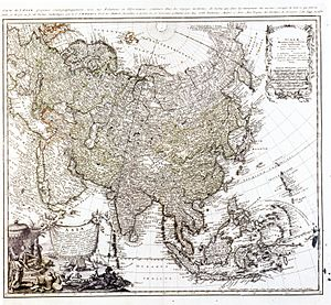 Johann Matthias Hase - Map of Asia, Johann Matthias Hase, National Palace Museum, Taipei
