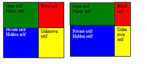English: Johari-window for the character of Mi...