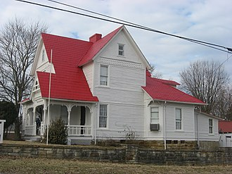 National Register of Historic Places listings in Butler County, Kentucky - Image: John Carson House, Morgantown